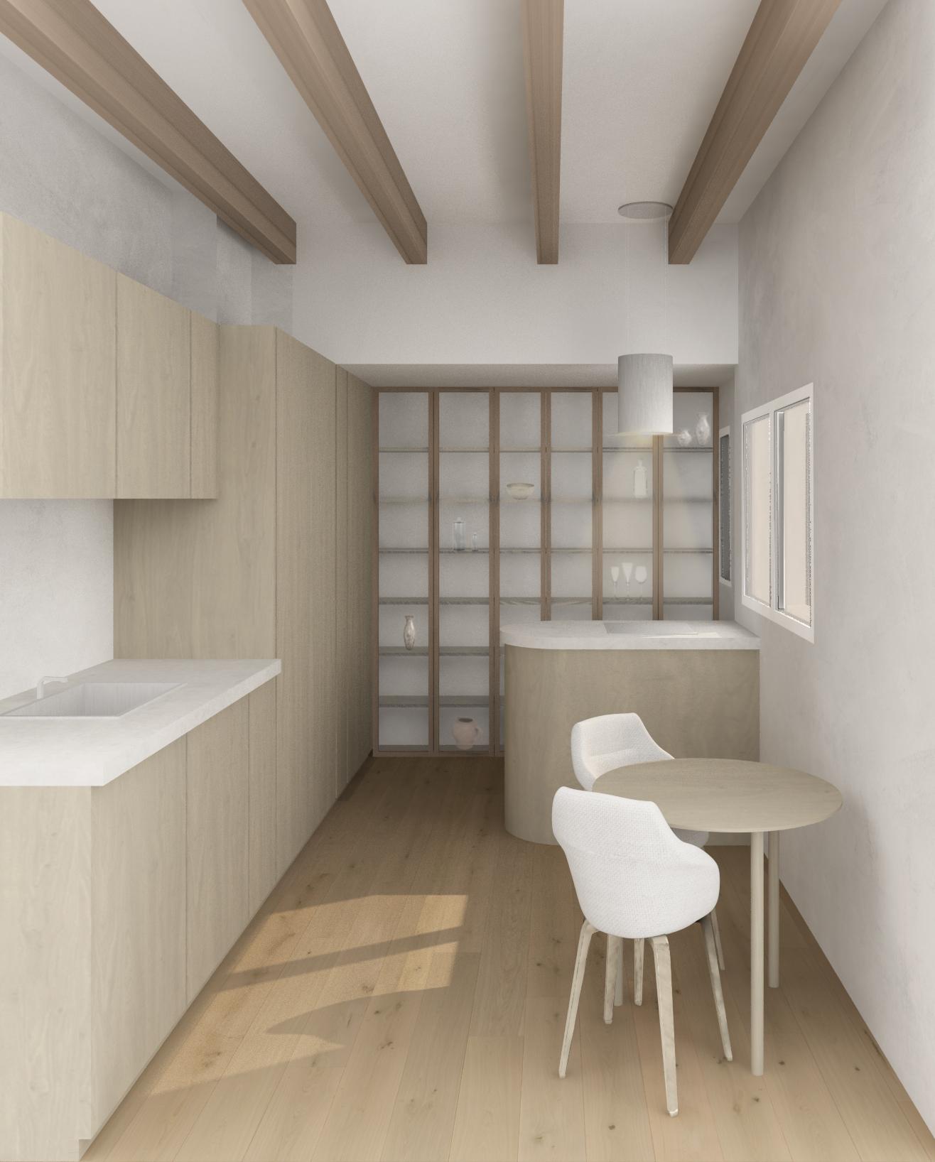 ATGestion Estudio de Arquitectura y Diseño Madrid Cocina Marta - Opción 2